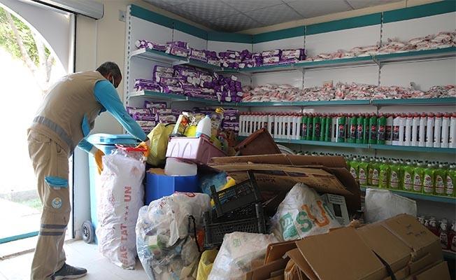 Yüzlerce kilo atık geri dönüşüme kazandırıldı