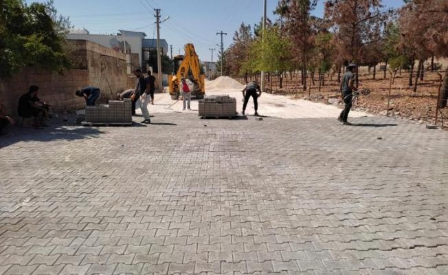 Halfeti'de Belediyeden yol sefeberliği