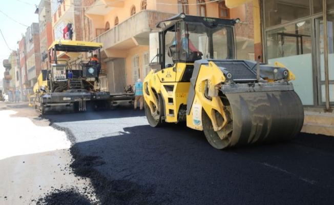 Haliliye'den Devteyşti'de asfalt çalışması