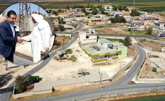 Harran'da köy içi yollar asfalta buluşuyor