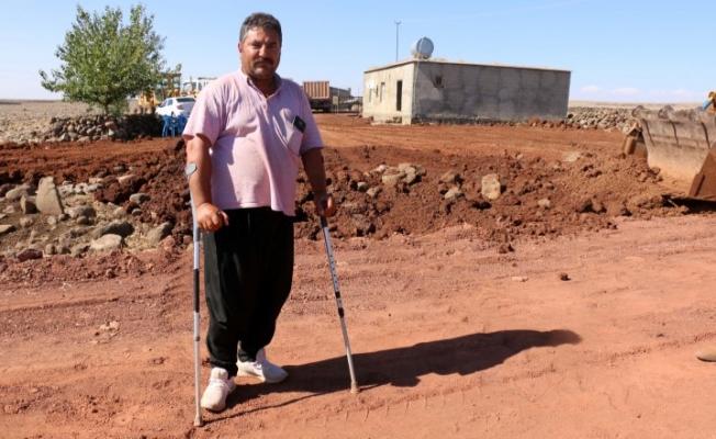 Siverek'in kırsal mahallelerinde yol yapım çalışmaları sürüyor