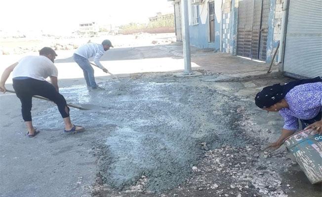 Viranşehir'de tozlu ve bozuk yollara tepki