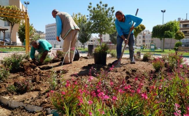 Haliliye'de parklarda yenileme çalışmaları