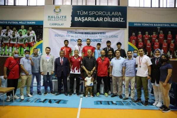 Haliliye'de masa tenisi ligi sona erdi