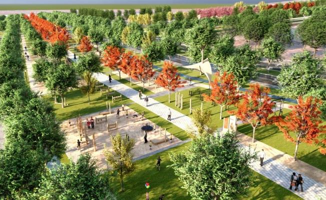 Haliliye'de Millet Bahçesi İnşaatı Sürüyor