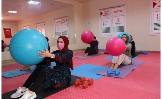 Karaköprü'de kadınlar için spor salonu hizmeti