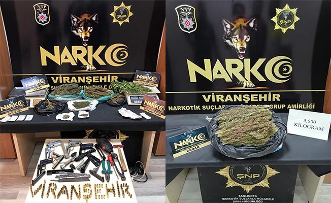 Şanlıurfa'da uyuşturucu operasyonunda 12 gözaltı