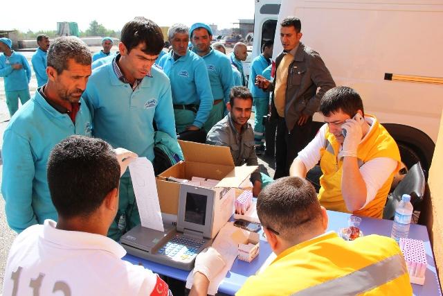 Eyyübiye Belediyesi 412 Personelini Mobil Sağlık Taramasından Geçirdi