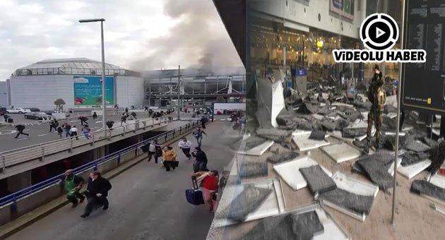 Brüksel'de patlama: 34 Ölü