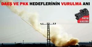 Daeş ve PKK Hedefleri Vuruldu