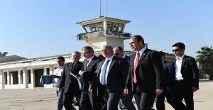 Vali Tuna ve Başkan Çiftçi Eski Havaalanında