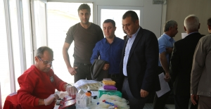 Türk Kızılayı Gezici Kan Bağış Tırı, Silopi'de