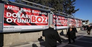 Urfa'da Türk Lirasına Afişli Destek