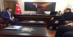Gülpınar, Milli Eğitim Müdürü Turan'ı Ziyaret Etti