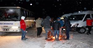 Siverek'te Tipiye Yakalanan ve Mahsur Kalan 300 Kişi Kurtarıldı