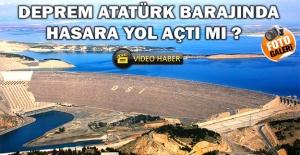 Atatürk Barajı'ndaki Deprem Anının Görüntüleri