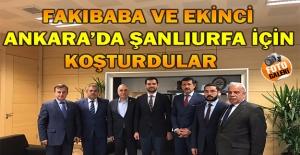 Fakıbaba ve Ekinci'nin Ankara'daki Yoğun Şanlıurfa Gündemi