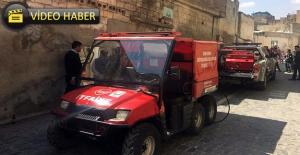 Sokak Dar Olunca İtfaiye Yangına ATV ile Müdahale Etti