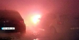 Haliliye'de Dört Araç Kundaklandı