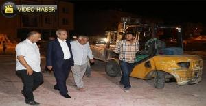 Başkan Demirkol'dan Ekiplere Gece Ziyareti