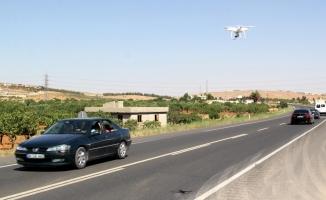 "Gaziantep'te hatalı sollamaya ""drone""lu tespit"