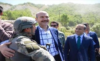 İçişleri Bakanı Soylu Tunceli'de