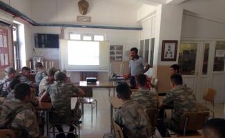 Sınır birliklerine yangın eğitimi