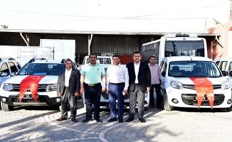 Ceylanpınar Belediyesi araç filosuna 5 yeni araç daha katıldı