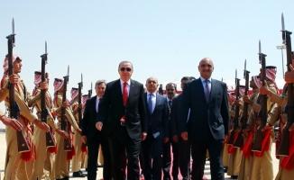 Cumhurbaşkanı Erdoğan, Ürdün El Hüseyniye Sarayı'nda