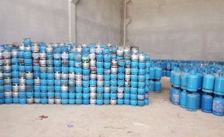 Urfa'da Kaçak Tüp Operasyonu: Binlerce tüp yakalandı