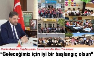 Önen'den Yeni Ders Yılı Mesajı