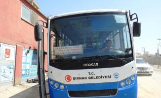 Şırnak'ta belediye otobüslerine güvenlik kamerası