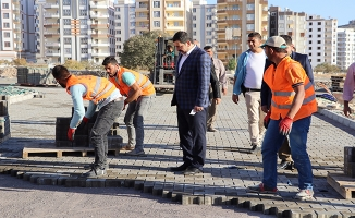 Atakent'te kilitli parke taşı seferberliği