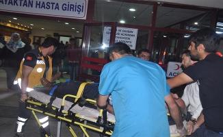 Birecik'te iki otomobil çarpıştı: 7 yaralı