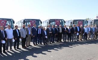 Büyükşehir'den 10 ilçeye otobüs desteği
