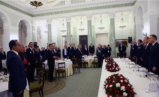 Polonya'da Cumhurbaşkanı Erdoğan onuruna yemek verildi