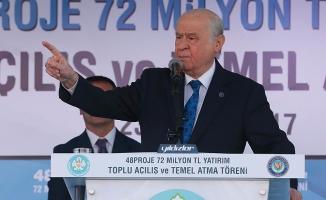 Bahçeli: Cepheleşme keskinleşirse MHP tepkisiz kalmayacaktır
