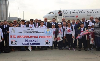 Haliliyeli öğrenciler İstanbul'a uğurlandı