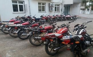 Şanlıurfa'da 76 adet çalıntı motorsiklet yakalandı