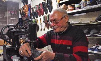 Ayakkabı ustasının 57 yıllık meslek aşkı