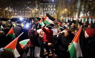Brüksel'de ABD protestosu
