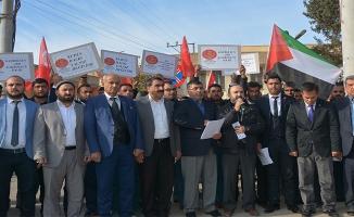 Ceylanpınar'da AK Parti, MHP, HÜDAPAR'dan ortak protesto