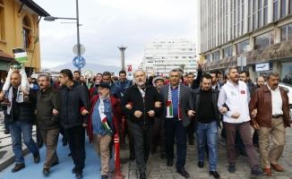 """İzmir'de """"Özgür Kudüs Yürüyüşü"""" düzenlendi"""