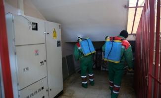 Karaköprü'deki okullar dezenfekte ediliyor