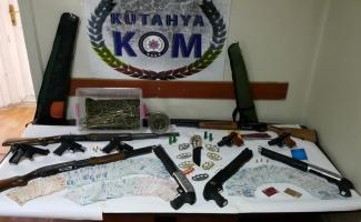 Kütahya'da suç örgütüne operasyon: 13 gözaltı