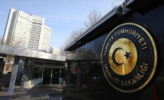 Dışişleri Bakanlığı: En kuvvetli şekilde' tepkimiz dile getirildi