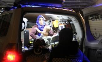 Paletli ambulans Umut bebeğe 3 saatte ulaştı