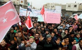 Bab'da Beşşar Esed karşıtı gösteri düzenlendi