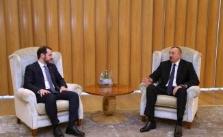Enerji ve Tabii Kaynaklar Bakanı Albayrak, Aliyev'le görüştü