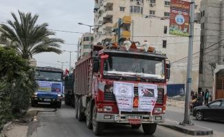 """Gazze'de """"kamyonlu"""" protesto"""